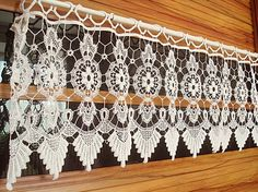 Cheap curtain trim tassel fringe, Buy Quality curtain size for window directly from China curtain fabric Suppliers: 	Vintage Handmade Crochet window valance home decoration roman curtain.	It is very beautiful,Full of idyllic atmosphere.