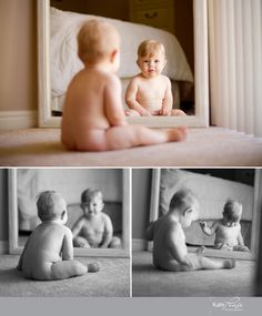not so sure about the baby nudity, but I like the mirror idea~