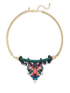 Shop NY Accents - Beaded Collar Pendant Necklace . Find your perfect size online at the best price at New York & Company.