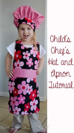 242663c5104 Chef s Hat and Apron  tutorial  sewing Childrens Apron Pattern