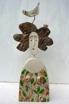 Bird Accessory. ..........Birds Nest £96.00 Lynn Muir wooden figure....fantastic