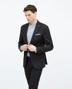 Image 2 of DARK BLUE MOHAIR SUIT from Zara
