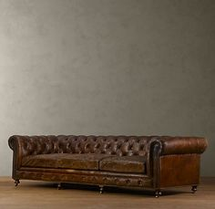 Finally a couch big enough for the whole family and in brown distressed leather.  Thanks Restoration Hardware!