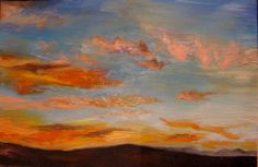 Sunset in oils. Sold on auction at the Secret Postcard Exhibition, Art Karoo. Most Beautiful, Sisters, Auction, Artists, Sunset, Painting, Sunsets, Artist, Painting Art