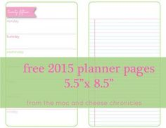 These undated printable planner pages are free to download. Please do not share the files in any way, including offering them on any website. You may pin the images to Pinterest or include a link...