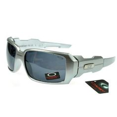 31b71f595ac  13.99 Cheap Oakley Oil Rig Sunglasses Smoky Lens Silver Frames Us Outlet  Deal www.racal