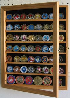 Military Challenge Coin Display Rack Holder by AllyBoosCreations ...