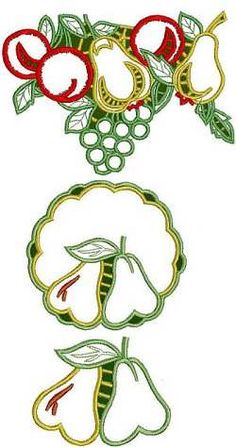 Advanced Embroidery Designs - Lace Fruit Set