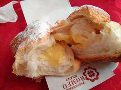 Ottima brioche alla crema e straordinaria mantovana con purea di mele alla Pasticceria Romeo di Milano, fermata M1 Bande Nere.