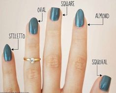 36 amazing manicure hacks you should know - nails - . 36 amazing manicure hacks you should know – nails – # Manicure Hacks Cute Nails, Pretty Nails, Different Nail Shapes, Nail Tip Shapes, Acrylic Nail Shapes, Nail Shapes Squoval, Types Of Nails Shapes, Nagel Gel, Stylish Nails