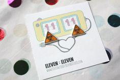 Bio-hazard Stud Post Earrings Danger Jewelry Sci Fi Jewelry