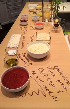 make your own pizza bar