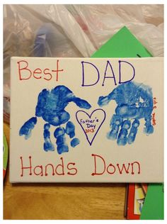 Kids Fathers Day Crafts, Fathers Day Art, Homemade Fathers Day Gifts, First Fathers Day Gifts, Gifts For Kids, Good Mothers Day Gifts, Fathers Day Ideas For Husband, Grandpa Gifts, Diy Father's Day Crafts