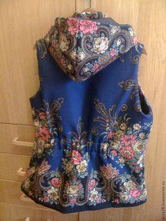 одежда из платков Mode Russe, Folk Costume, Costumes, Home Sew, Folk Fashion, Russian Fashion, Dress Up, Vest, Textiles