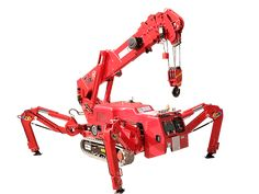 Henan spider crane is the smallest body crane, loading capacity is 2 tons. Contact SPT to get small crane videos and manual. Garage Lift, Vector Power, Crane Design, Space Exploration, Tools And Equipment, Welding, Tractors, Spider, Construction