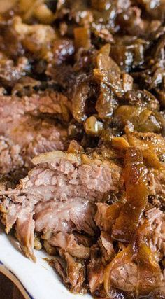 Slow Cooker Brisket and Onions!!