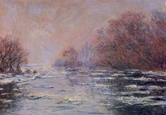 Claude Monet - River Thawing near Vetheuil (1880)