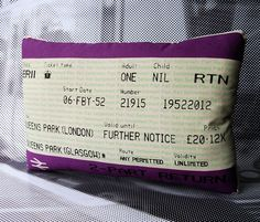 ...i'd love to turn one of my old tube tickets into a pillow :)