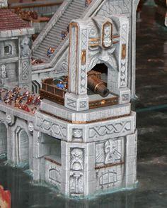 Dwarf City under attack, awesome diorama