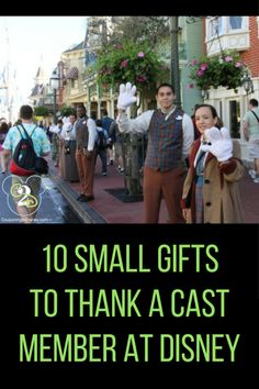 Do you bring small gifts with you to Disney to Thank a Cast Member? Consider these 10 ideas for your next trip, and make a Cast Members day. Disney World Florida, Walt Disney World Vacations, Disneyland Trip, Disney Trips, Florida Vacation, Disney Fun, Disney Ideas, Disney Stuff, Disney Magic
