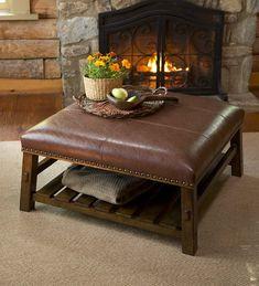 plowandhearth.com: Canyon Leather Coffee Table (59C35) $399.95