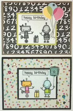 Christy's Craft Corner featuring Lawn Fawn's Beep Boop Birthday