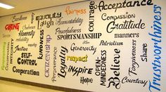 """What a great photo!  """"The Writing's on the wall!   @CHARACTERCOUNTS @CharacterDotOrg @CHARACTERplus @TheCharacterLab @Hi5ForCharacter"""