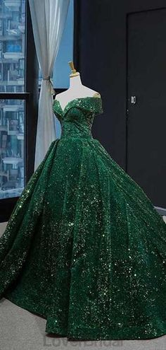 Off Shoulder Emerald Green Sequin Long Evening Prom Dresses, Evening Party Prom Dresses, 12234 Off Shoulder Emerald Green Sequin Long Evening Prom Dresses, Evening P – LoverBridal Green Wedding Dresses, Sequin Prom Dresses, Cheap Prom Dresses, Prom Party Dresses, Quinceanera Dresses, Summer Dresses, Xv Dresses, Quince Dresses, Ball Dresses