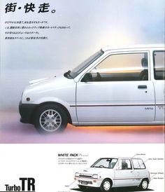 DAIHATSU MIRA Turbo TR/TR-XX/4WD, Japanese Brochure Car Catalog Vintage jh13