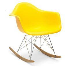 Rocking Chair, Yellow | ACHICA