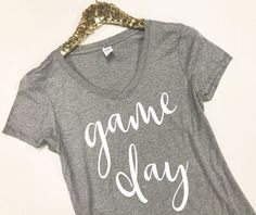 Game Day Shirt - Game Day Tee - Football Shirt - Football Mom Shirt - Game  Day Clothing - Women Football Tops - Game Day T-Shirt 8a5243279