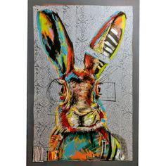 #Wojciech Brewka #rabbit #art #painting #design #popart #graffiti #streetart