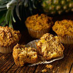 All-Bran® - Pineapple Bran Muffins Bran Muffins, Baking Muffins, Pineapple Muffins, Biscuits, Berry, All Bran, Cookie Cake Pie, Chicken Pasta Bake, Vegan Bread