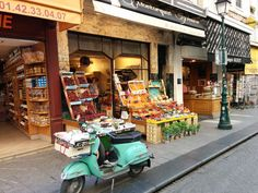 The Rue Montorgueil market street in central Paris