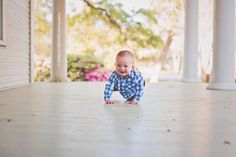 Crawling is so much fun! - Danielle Brasher Photography