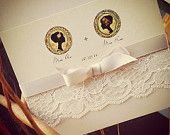 Same sex  lace wedding invitation. Bride/Bride Monogram #gayinvitations #lgbtweddinginvitations #laceweddinginvitations also available at our main page inkandlove.com