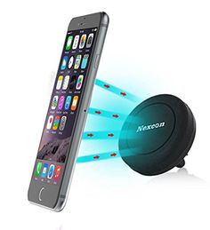 Car Mount_Nexcon Magnetic Cradle-less Universal Car Phone Air vent Mount Holder for iPhone 6 – 6 plus_5 – 5s – 4 / Samsung Galaxy S6 Edge S5 S4 S3 Note 4 3 – HTC M9_M8_LG G4_G3_Black – Reveiw