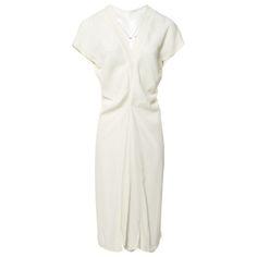 ecru Plain Polyester JIL SANDER Dress - Vestiaire Collective