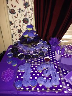 Purple birthday party-make a cupcake 4 instead
