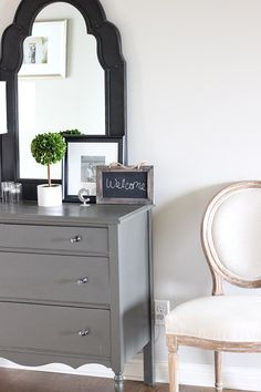 Maybe paint my old dresser gray