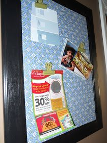 Delightfully Noted: DIY:How to Turn a Cabinet Door Into a Magnetic Memo Board