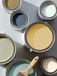 (this is a dead link) but these colors are from the Pottery Barn spring 2014 catalog. They are the sherwin williams paint colors Best Bathroom Paint Colors, Interior Paint Colors, Paint Color Schemes, Pallet Painting, Living Room Colors, Living Rooms, Wall Colors, 2 Colours, Color Stories
