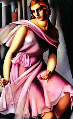 Art Deco. Tamara de Lempicka: Portrait of Romana de la Salle, 1928