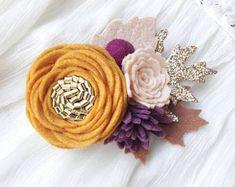 Indian summer // felt flower headband // FALL crown // autumn felt flower headband // autumn felt flower crown
