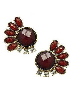 Red Multi-Jewel Gem Earrings from Helen's Jewels