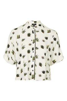 PETITE Cactus Pyjama Style Blouse