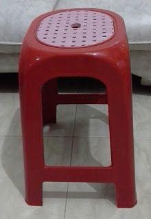 Selatan Jaya distributor barang plastik furnitur Surabaya Indonesia: Kursi plastik tinggi kombinasi 303 TC napoli merah...