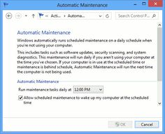 Manually Start and Stop Automatic Maintenance in #Windows 8