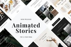 ANIMATED Stories Templates by Sparrow & Snow on @creativemarket