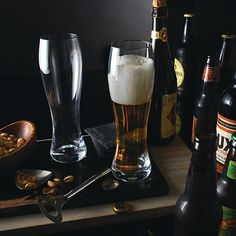 These Waterford Lager Glasses offer an elegant way to showcase delicious craft beers.